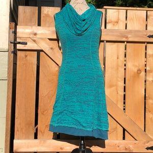 Prana cowl neck layered sleeveless T-shirt dress